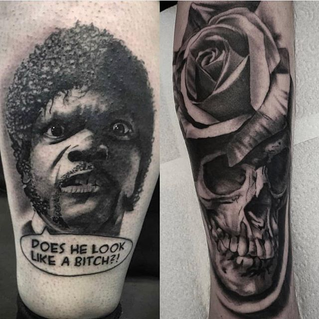 @bobbybrowntattoo has space to tattoo tomorrow and Saturday if you want some black and grey work done! #timelesstattooglasgow #blackandgreytattoo #realistictattoo