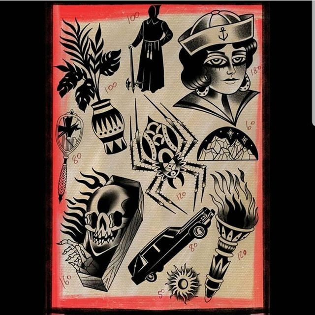 @duncansweeny done this flash sheet yesterday and 2 designs are already gone. Contact us ASAP to get one!! #timeless #tattoo #glasgow #timelesstattooglasgow