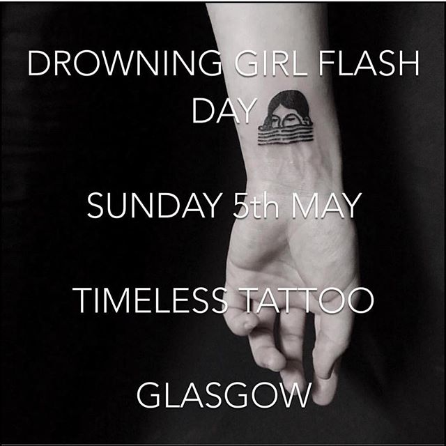 "We will have @fidjit in the shop on Sunday the 5th of May doing a charity fundraiser to raise awareness for the Miss M ""End not proven"" campaign. .Drowning girls will be £50 each and will be from 12pm onwards. .There will be T-shirts, pins, zines and other things for sale. .All proceeds will be for rape crisis. .THIS WILL BE WALK INS ONLY! FIRST COME, FIRST SERVE!! .Hope to see you there!!!!#endnotproven #missm #rapecrisis #rapecrisisscotland"
