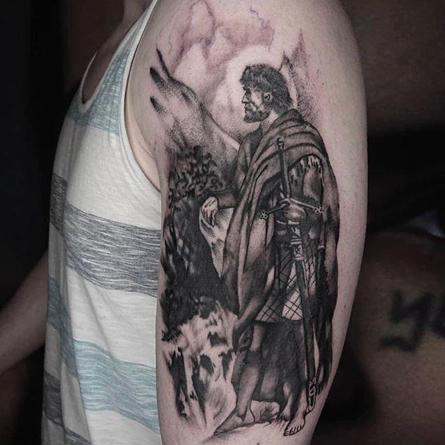 Scottish warrior tattoo done by @bobbybrowntattoo #timelesstattooglasgow #timeless #glasgow #tattoo #scottishtattoo